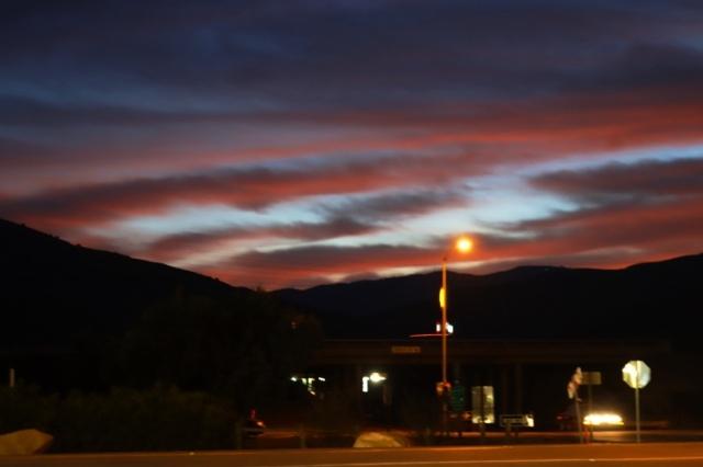 California Sunset, Red Sky, Winter Sunset, Patterson Hills Sunset