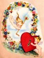 Valentine's Day Card, Key to Heart, Angel Babies