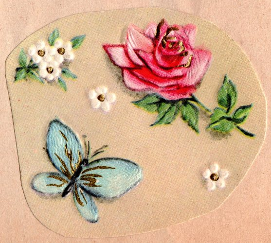 Rose and Butterfly, Scrapbook, Valentine's Day