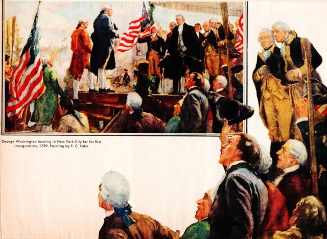 Washington's Innauguration, New York, Washington's Birthday