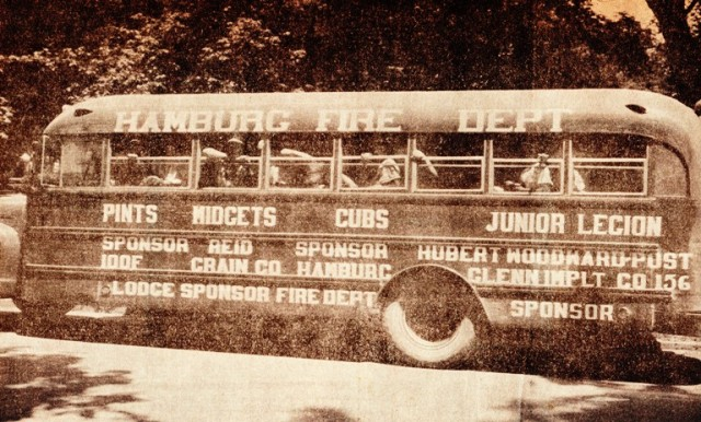 Hamburg Baseball Bus, Hamburg Iowa, Baseball, Little League Baseball, Baseball Season
