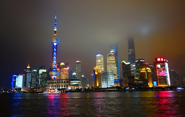 Pudong Skyline, Shanghai, China, Bund, Tallest Buildings, Skyscrapers, Night Skyline