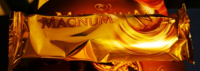 Magnum Bar, Gold Wrapper, Magnum Ice Cream Bar