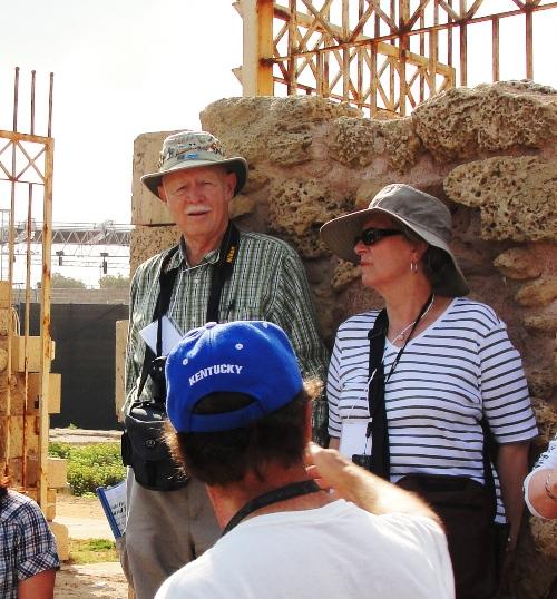Caesarea Maritima, Israel, Memories, Terri and Oliver