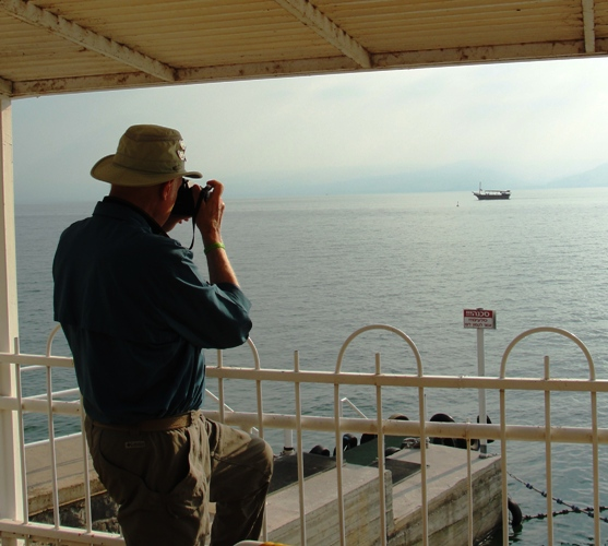 Sea of Galilee, Taking Picture, Boat on Sea of Galilee