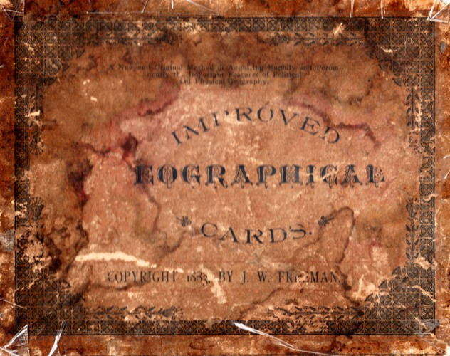 Improved Geographical Cards, Flash Cards, J. W. Freeman, Education