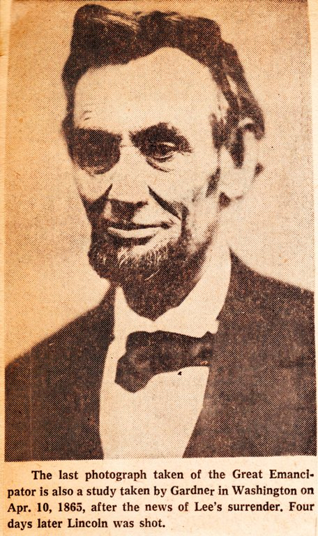 Alexander Gardner, President Lincoln, Last Portrait?, Lincoln Assassination