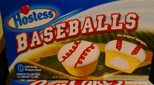 Hostess Baseballs, Snack Cakes, CupCakes, Red Squiggle