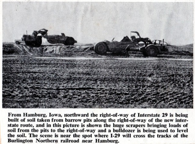 Interstate Construction, I-29, Hamburg, Iowa, Earth Movers