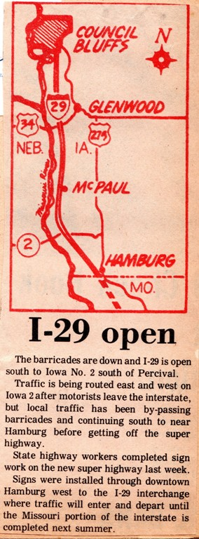 Interstate 29 Opening - Hamburg, Iowa, Omaha, Road Opening