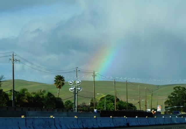 Rainbow, Rain Clouds, Spring Rain, Altamont Hills