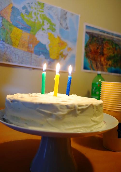 Birthday Cake, Candles, Canada Map, Birthday Feast
