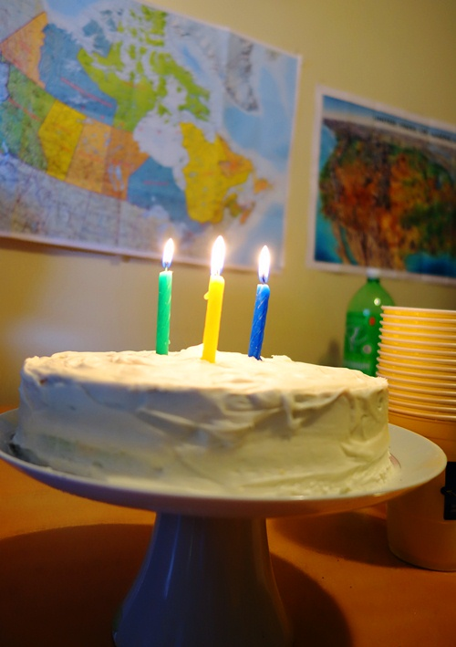 Birthday Cake, Candles, Canada Map, Birthday Feast