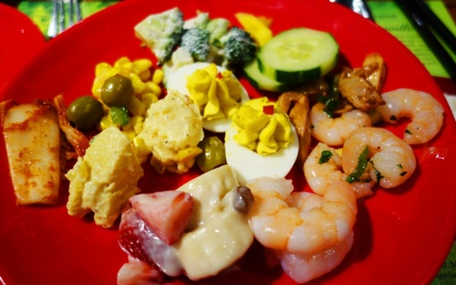 Salad Course, Asian Buffet, Dragon Pearl, Toronto