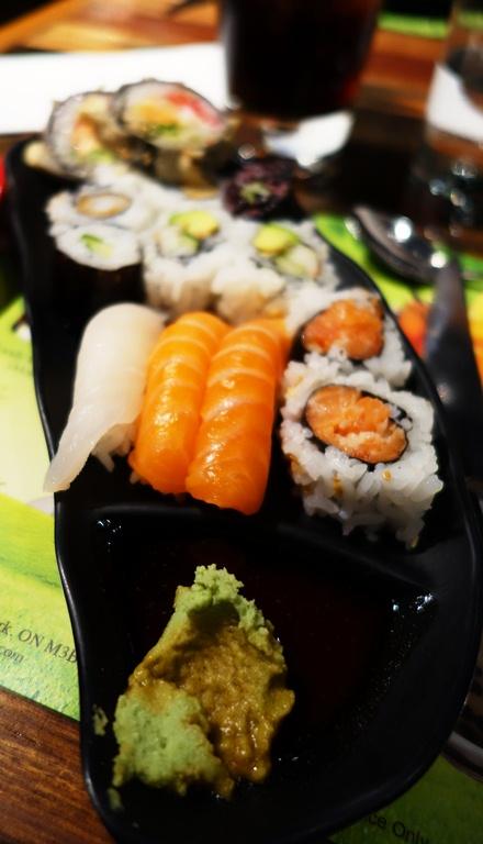 Dragon Pearl Toronto, Sushi, California Roll, Wasabi
