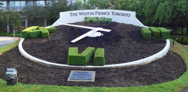 Westin Prince, Flower clock, Toronto Canada, Spring time, Flower Planting