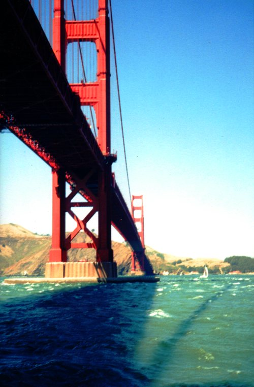 Golden Gate Bridge, Fort Point, Sunny Day, Sailing