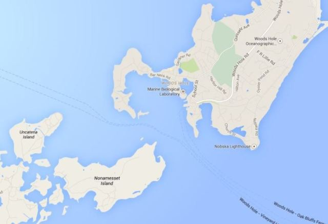 Google Maps, Woods Hole, Janes Island