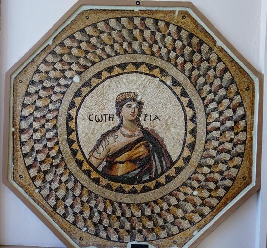 Soteria, Mosaic, Antakya, Hatay, Roman Mosaic