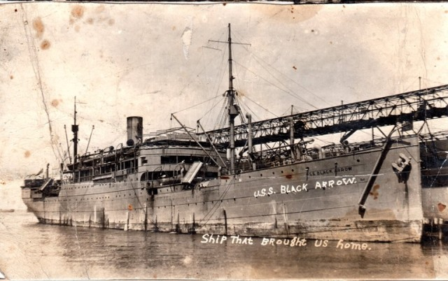 USS Black Arrow, 1919, Transport ship, US Navy, Blackhawk, Rhaetia