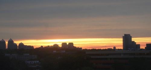 Toronto Sunset, North York, Sunset, Red Sky, Skyline sunset