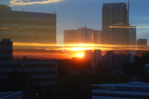 Toronto Sunset, Reflection, Westin Prince, Hotel