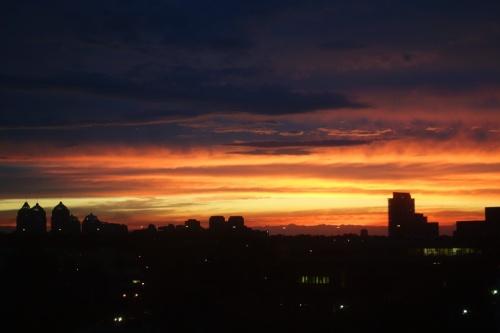 Nice Sunset, Toronto, Canada, Skyline