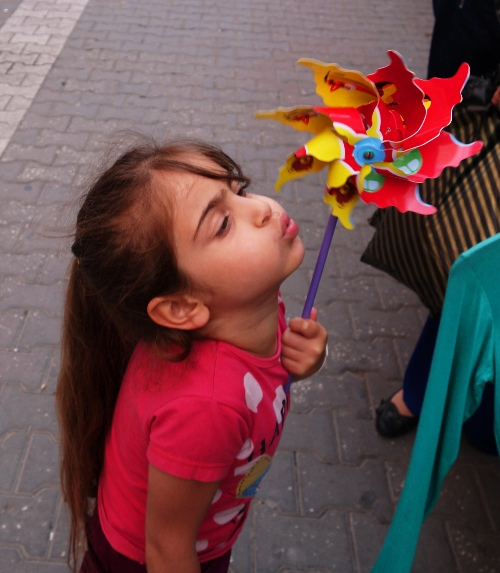 Pinwheel, Whirligig, Blowing Pinwheel, Turkey, Child with Pinwheel