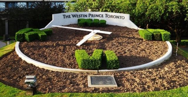 Flower Clock, Westin Prince Hotel, Toronto, Canada, Flowers