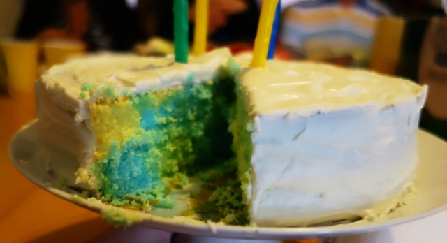 Colorful Cake, Colored Batter, Patchwork Cake, Birthday Cake