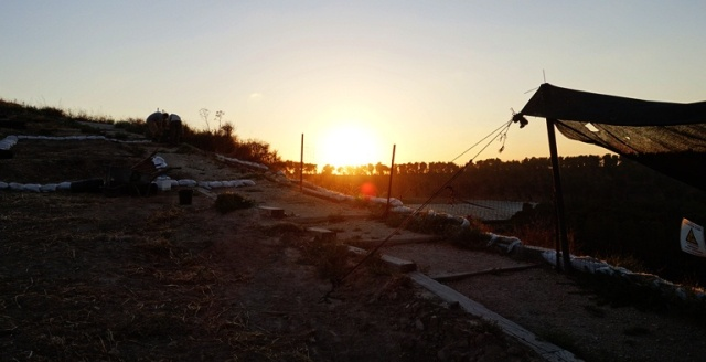 Dig at Sunset, Lachish, 4th Expedition, Sunset