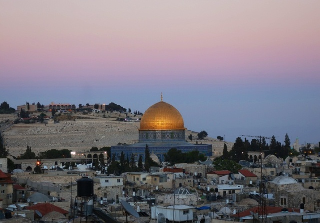 Dome of the Rock, Jerusalem, Sunset, Mount of Olives