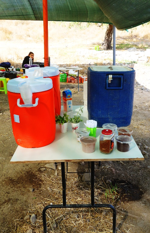 Coffee Station, Water Break, Coffee Break, Hot chocolate, Lachish, Dig, Archaeology