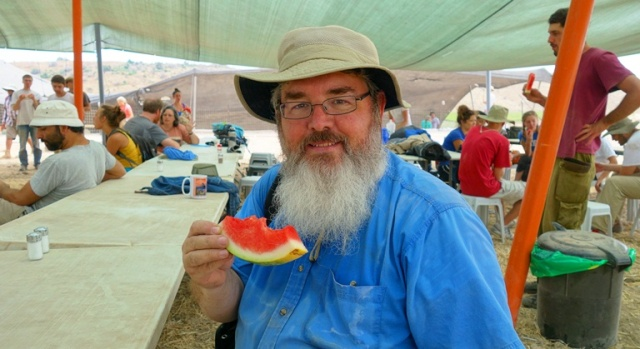 Eating Watermelon, Watermelon Break, Archaeology, Lachish, Israel, Dig