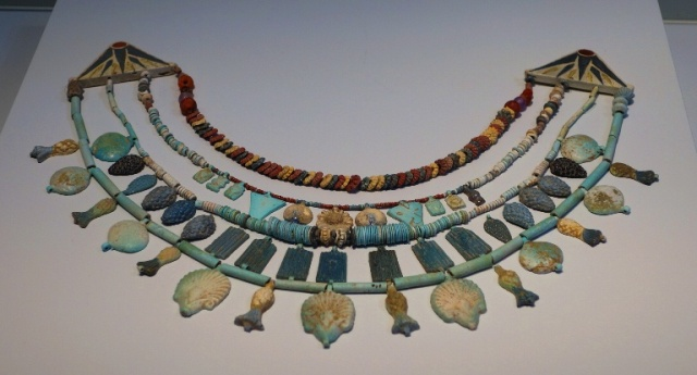 Faience Necklace, Lachish, Fosse Temple, Egyptian Jewlery