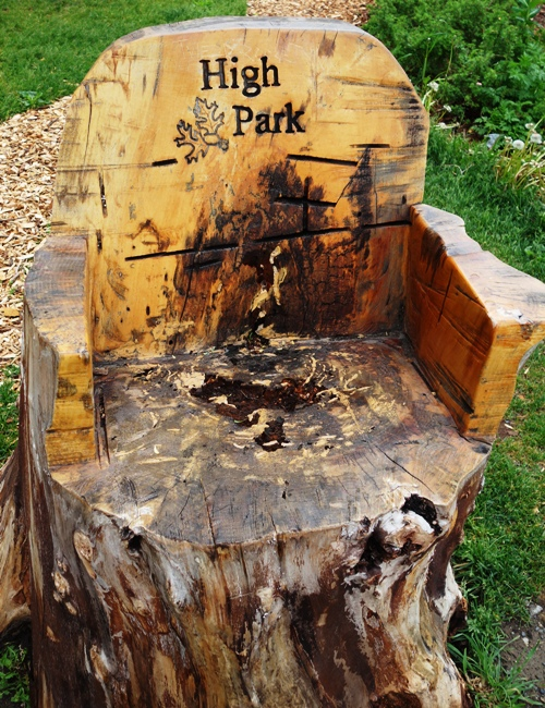 High Park, Tree Stump, Stump Chair, Grenadier Pond