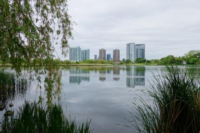 Grenadier Pond, Reflections, Skyline, Toronto, High Park