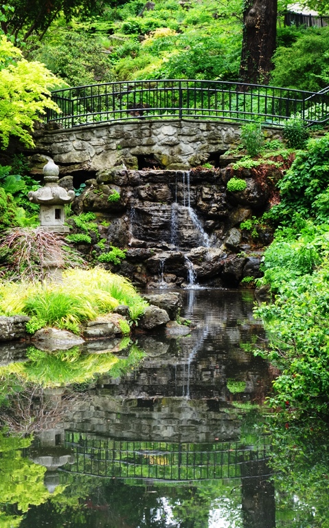 Bridge, Reflection, High Park, Toronto Canada, Waterfall