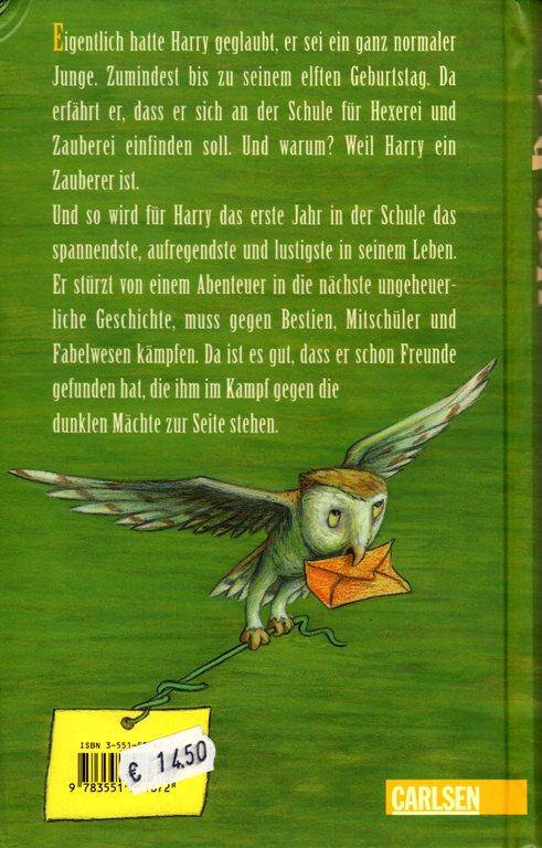 Harry Potter Auf Deutsch Braman S Wanderings