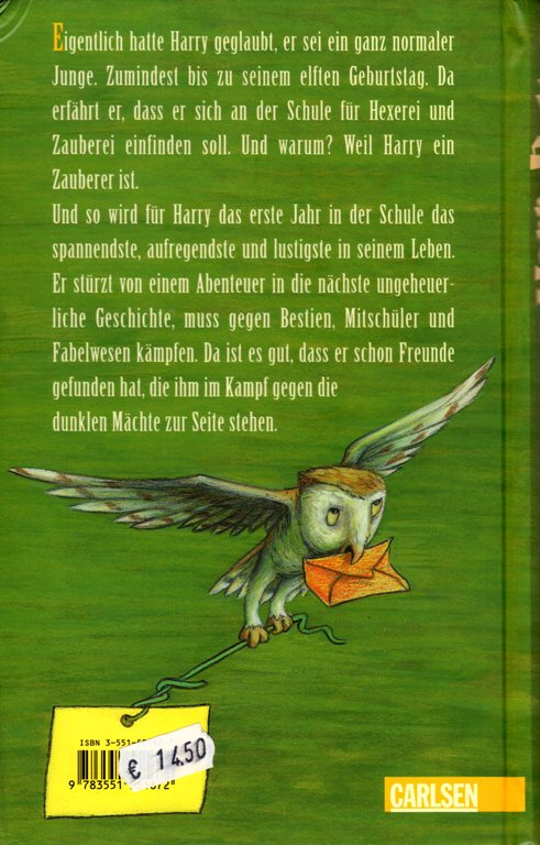 Harry Potter German Cover, J. K. Rowling, Harry Potter Translation