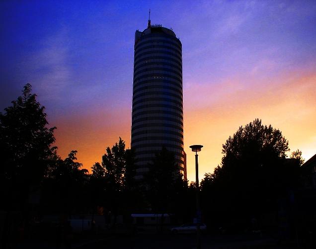 Jena Germany, Jena, Sunset, Intershop Tower, Skyscraper, Zeiss
