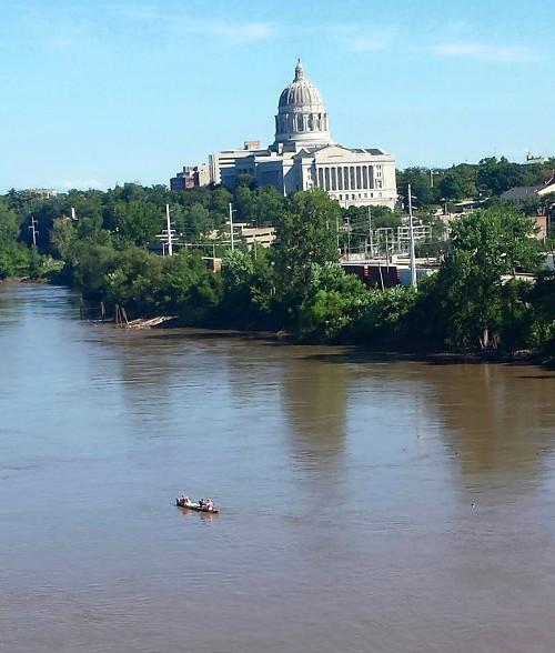 Jefferson City, MR340, Paddle Race, Missouri River, Missouri Capitol