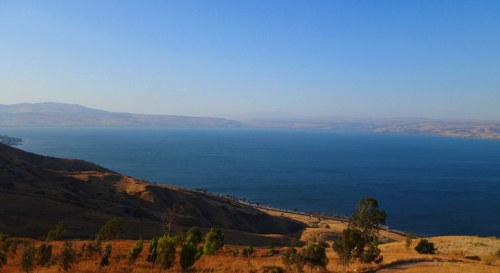 Sea of Galilee, Overhead view of Sea of Galilee, Poryia Youth Hostel, Galilee