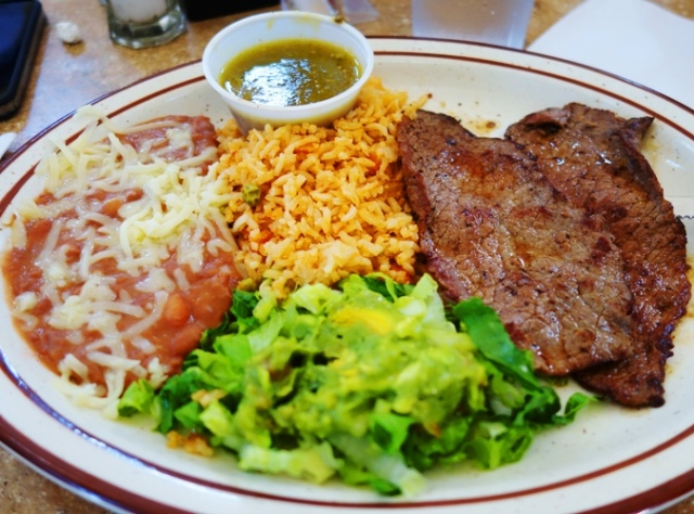 mexican food, Mexican Cuisine, Carne Asada, Beef, Beans, Rice, Patterson