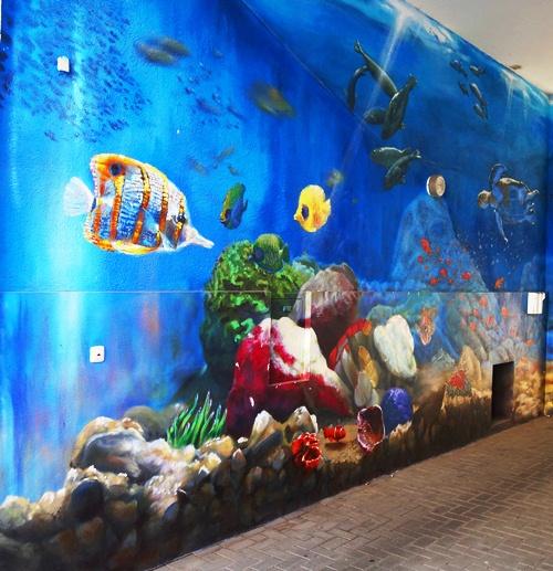 Jena Germany, Mural, Wall Art, Aquarium