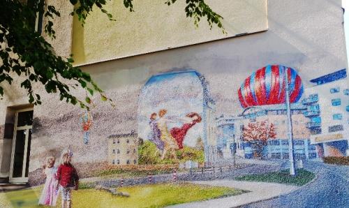 Jena Wall Art, City Scene, Jena Germany, Painting