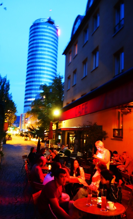Cafe Stilbruch, Jena, Germany, After dark, night photography
