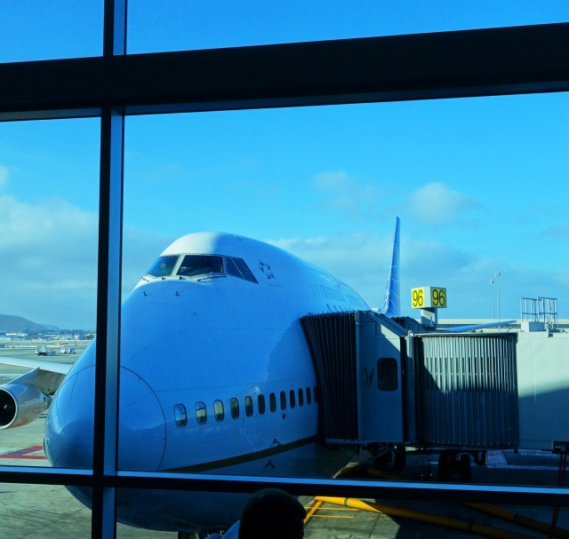 United 747, Jet, Plane, travel, SFO