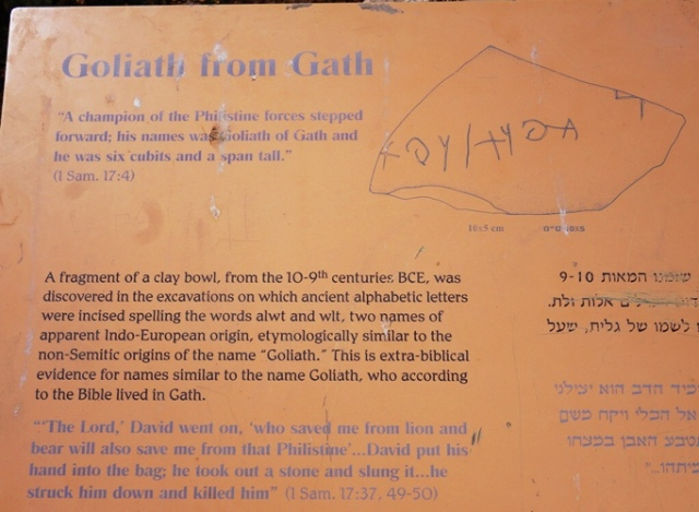 Goliath Inscription, Gath, Aren Maeir, Gates of Gath