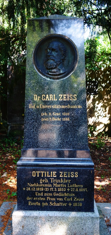 Carl Zeiss Grave Stone, Trinkler, Luther, Jena, Germany, Cemetery